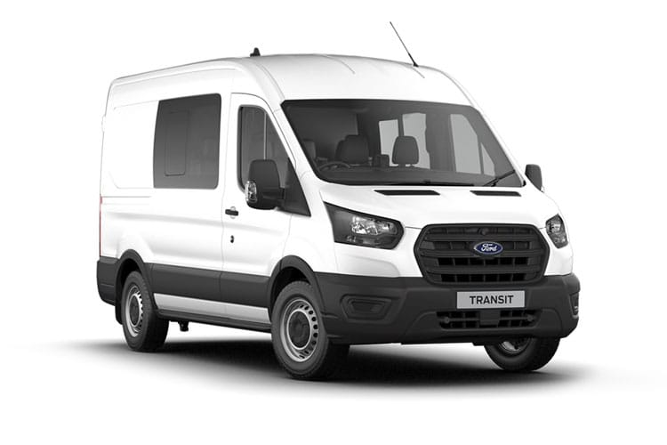 Ford Transit 350 L2 RWD 2.0 EcoBlue RWD 130PS Leader Crew Van High Roof Manual [Start Stop] [DCiV] front view